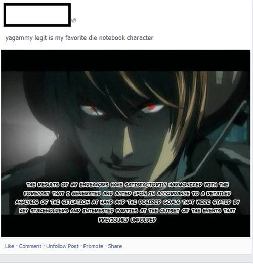 engrish anime facebook death note - 7882268672