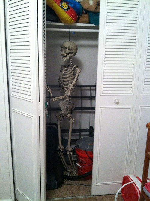 halloween skeleton closet puns decoration - 7882477824