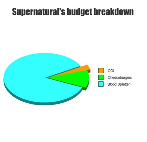 budgets Supernatural TV graphs - 7882553088