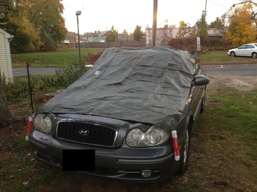 tarps,cars,there I fixed it