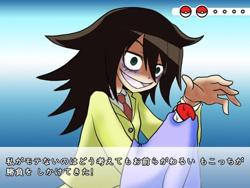 crossover,Pokémon,WataMote,anime