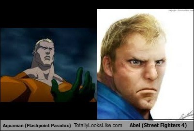 Aquaman (Flashpoint Paradox) Totally Looks Like Abel (Street Fighters 4)