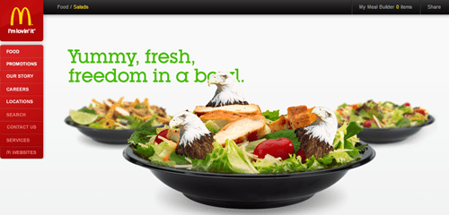 murica McDonald's salads - 7883751936
