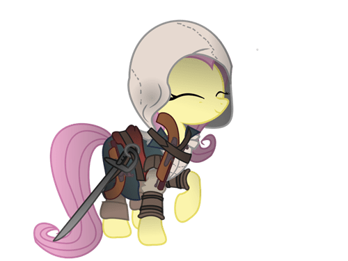 Fan Art mashup assassins creed fluttershy - 7883797760