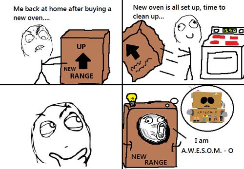 boxes,ovens,robots