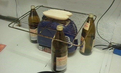 oven rack,toasters,bottles,there I fixed it