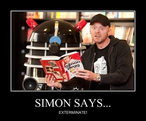 dalek Simon Pegg Exterminate - 7884744192