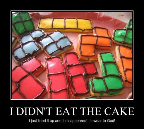 cake,funny,video games,tetris