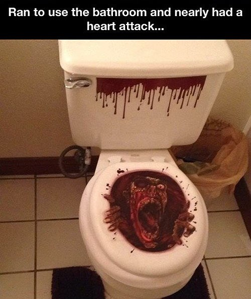 halloween zombie toilets - 7885554176