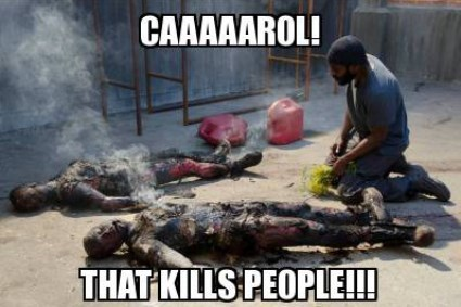 tyreese carol burns The Walking Dead - 7885624576