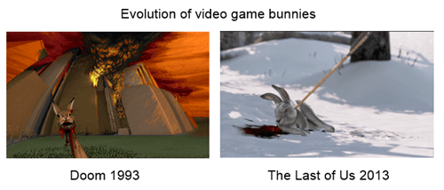 bunnies,doom,the last of us,video games