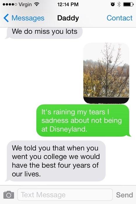 kids text parenting disneyland dads - 7885832960