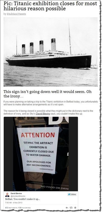 titanic news Probably bad News irony funny - 7885884928