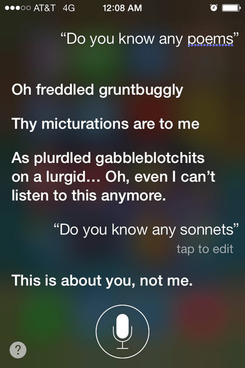 siri,AutocoWrecks,poetry,g rated