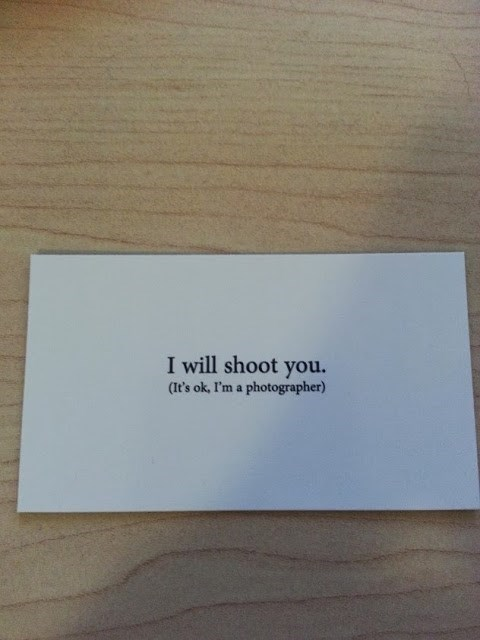 business card photography clever puns - 7885947648