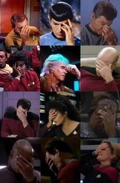 TNG,TOS,facepalm,voyager,Star Trek,ds9