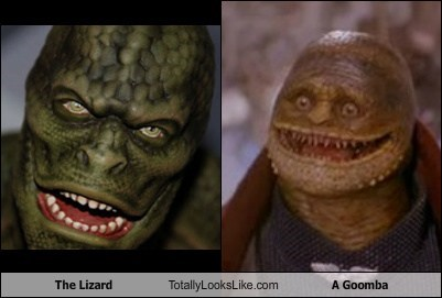 totally looks like lizard goomba Spider-Man funny