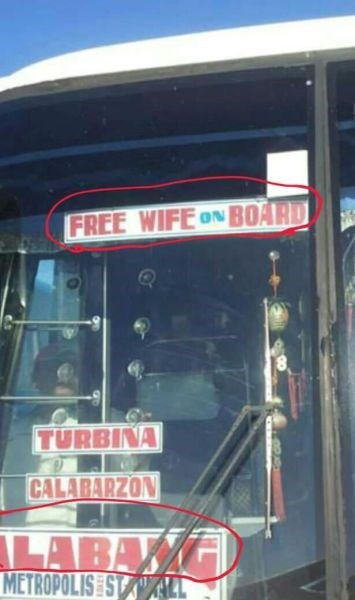 sign wi-fi spelling funny bus - 7886176512