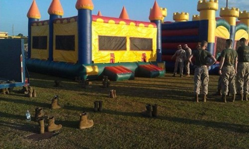 Bounce House army whee funny g rated win - 7886185472
