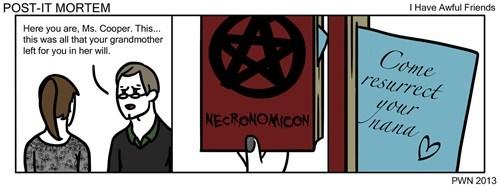 necronomicon grandma funny web comics - 7886533120