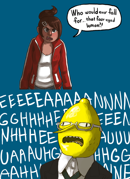 lemongrab crossover anime dangan ronpa Fan Art cartoons adventure time - 7886712576