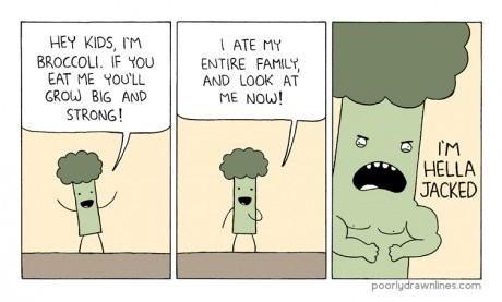 nutrition broccoli funny web comics - 7887044096