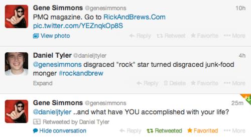 KISS,troll,Gene Simmons,celebrity twitter