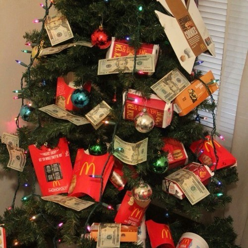 christmas,christmas tree,McDonald's,french fries