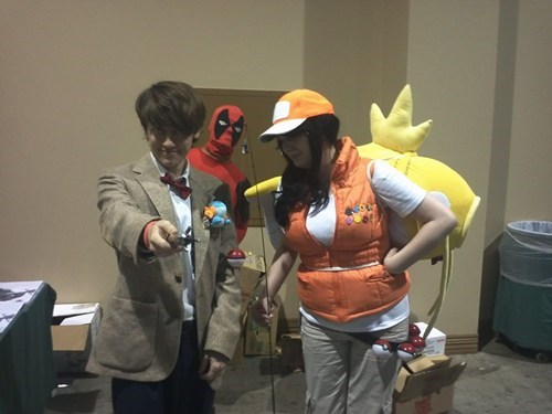 costume photobomb deadpool doctor who Pokémon cosplay - 7887149056