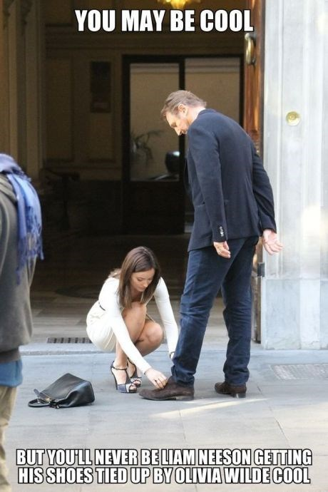 shoes,liam neeson,olivia wilde