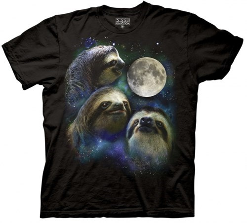 shirt three wolf moon sloth g rated poorly dressed - 7887406080