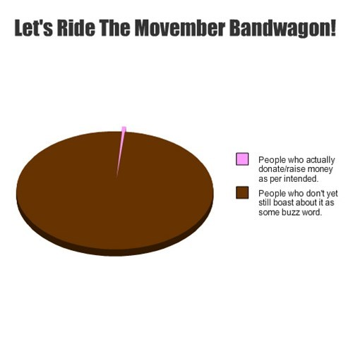 awareness mustache movember cancer Pie Chart