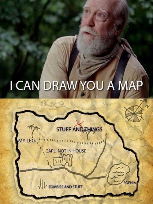 map,hershel greene,The Walking Dead