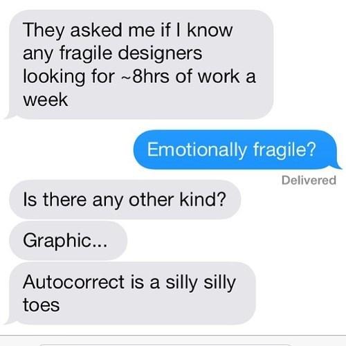 autocorrect graphic designers text