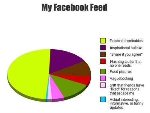facebook social media Pie Chart - 7887645184