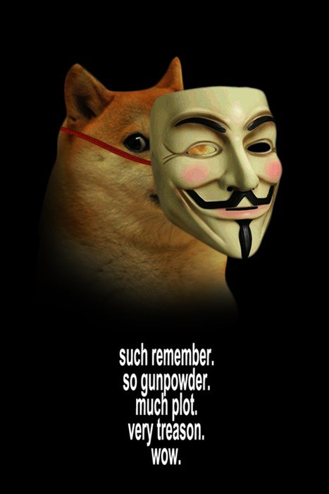 doge Guy Fawkes - 7887707648