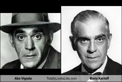 totally looks like,abe vigoda,boris karloff