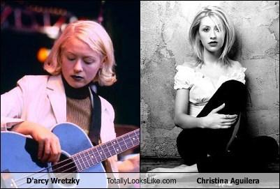christina aguilera,d'arcy wretzky,totally looks like,funny
