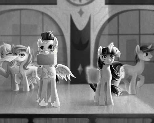 spoof twilight sparkle shining armor paperman short - 7888393216