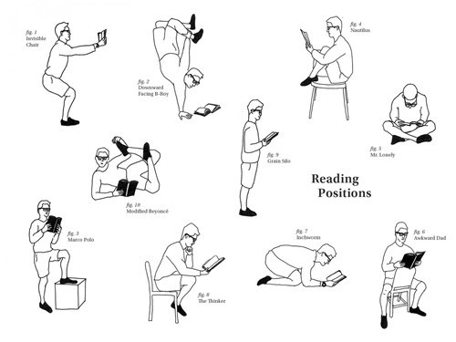 wtf reading positions books funny - 7888733184