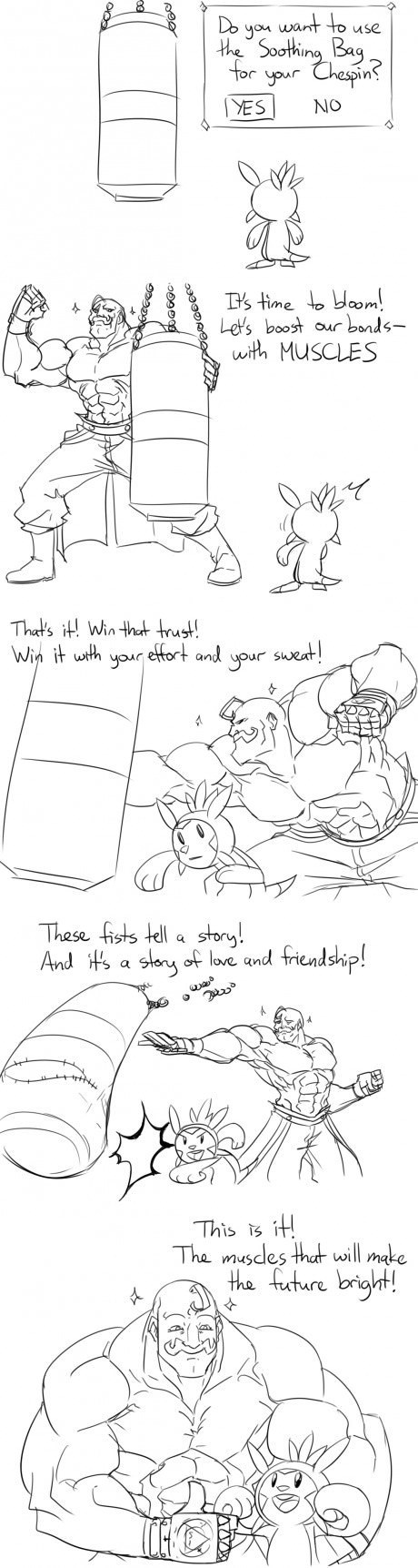 Pokémon chespin super training - 7888769280