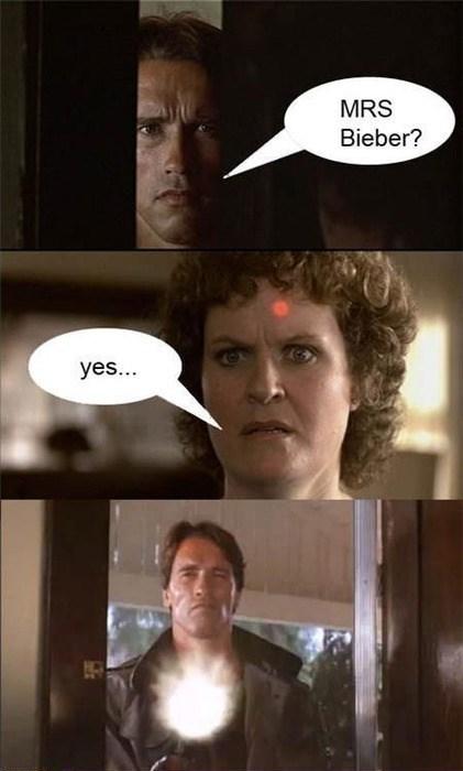 terminator Arnold Schwarzenegger justin bieber - 7888784384