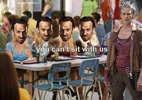 Rick Grimes,banishment,carol peletier,mean girls