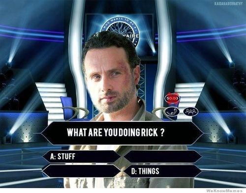 Rick Grimes who wants to be a millionaire stuff-things - 7888901120