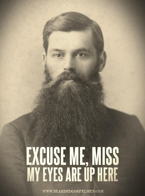 cleavage touché beards funny