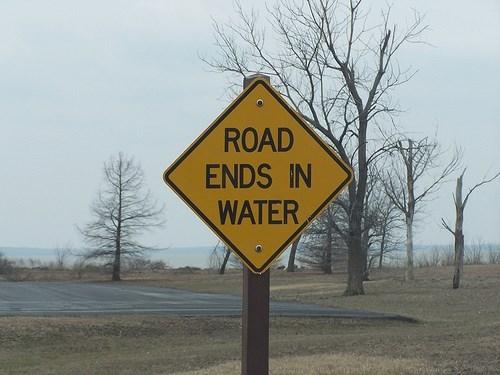 warning sign road funny