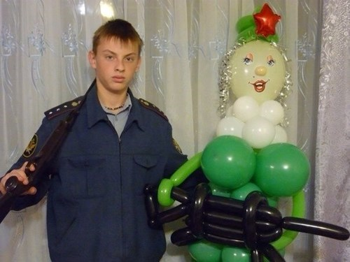 russia,guns,wtf,Balloons,funny