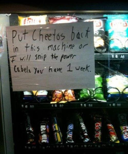 vending machines,cheetos