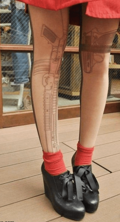guns funny wtf tattoos - 7889086720