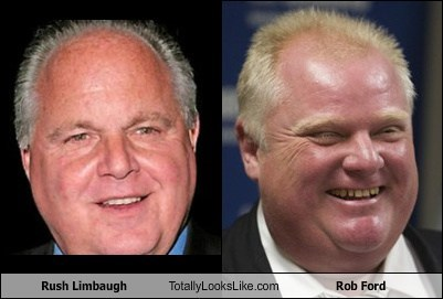 funny totally looks like rob ford Rush Limbaugh - 7889112320
